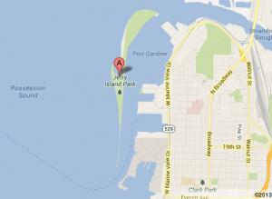 Jetty Island on Google Maps