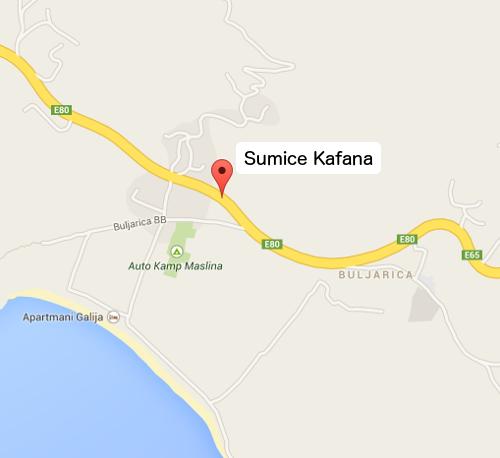 Šumice Kafana Map