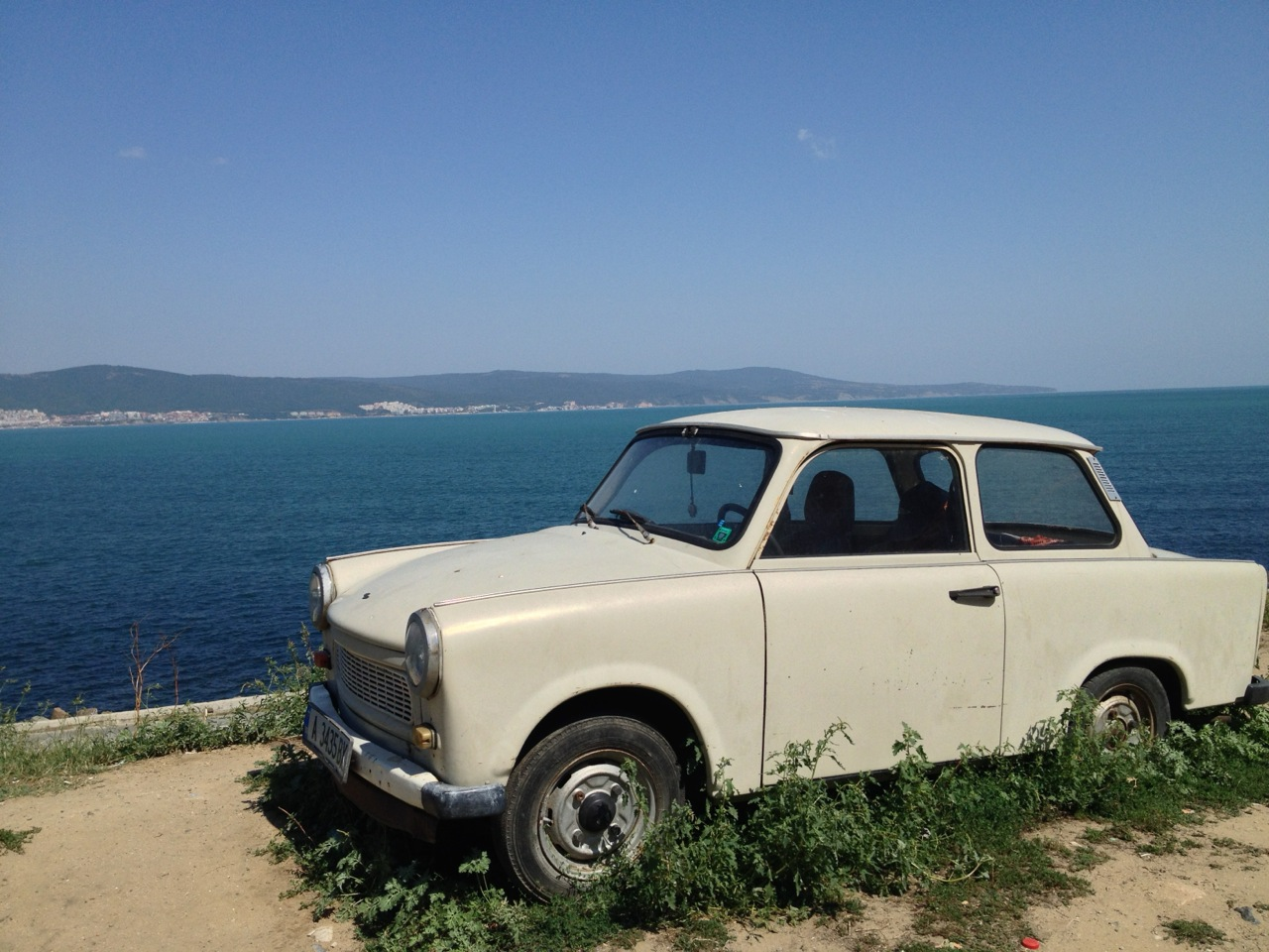 This Trabant was as popular as ruins