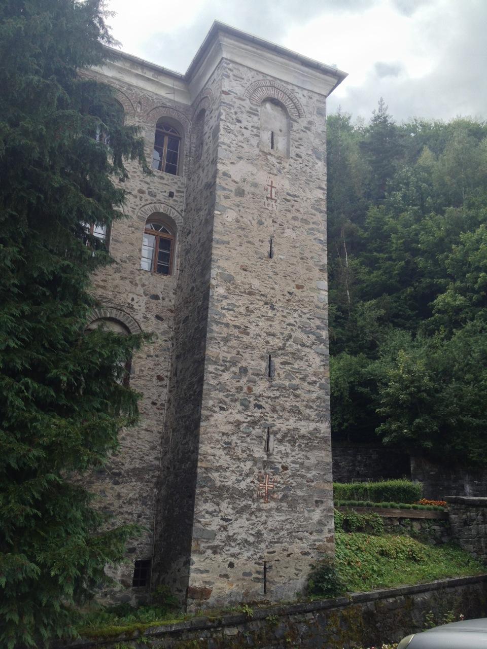 Rila Monastery's outer walls