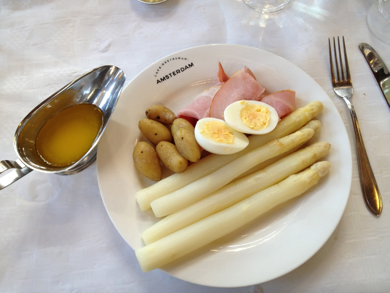 White asparagus to die for
