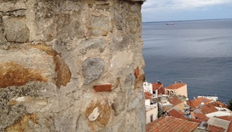 Kavala from the castle walls