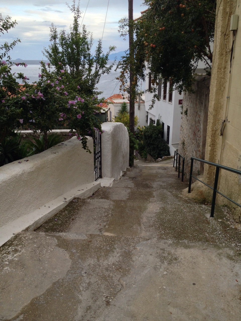 Negotiating Old Kavala's streets is a perfect workout