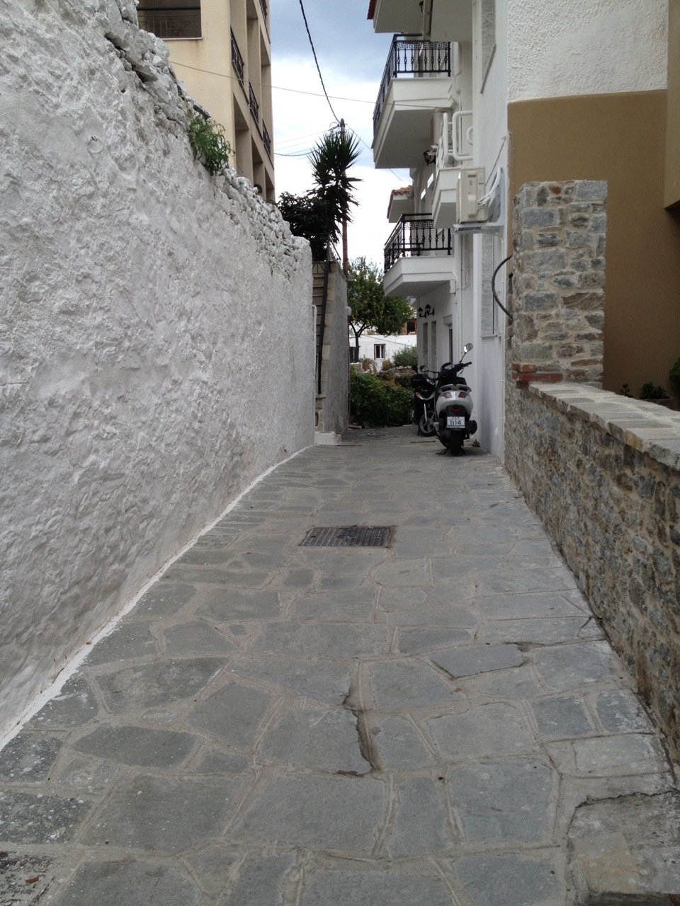Scooter is the best mode of transportation on these tricky streets
