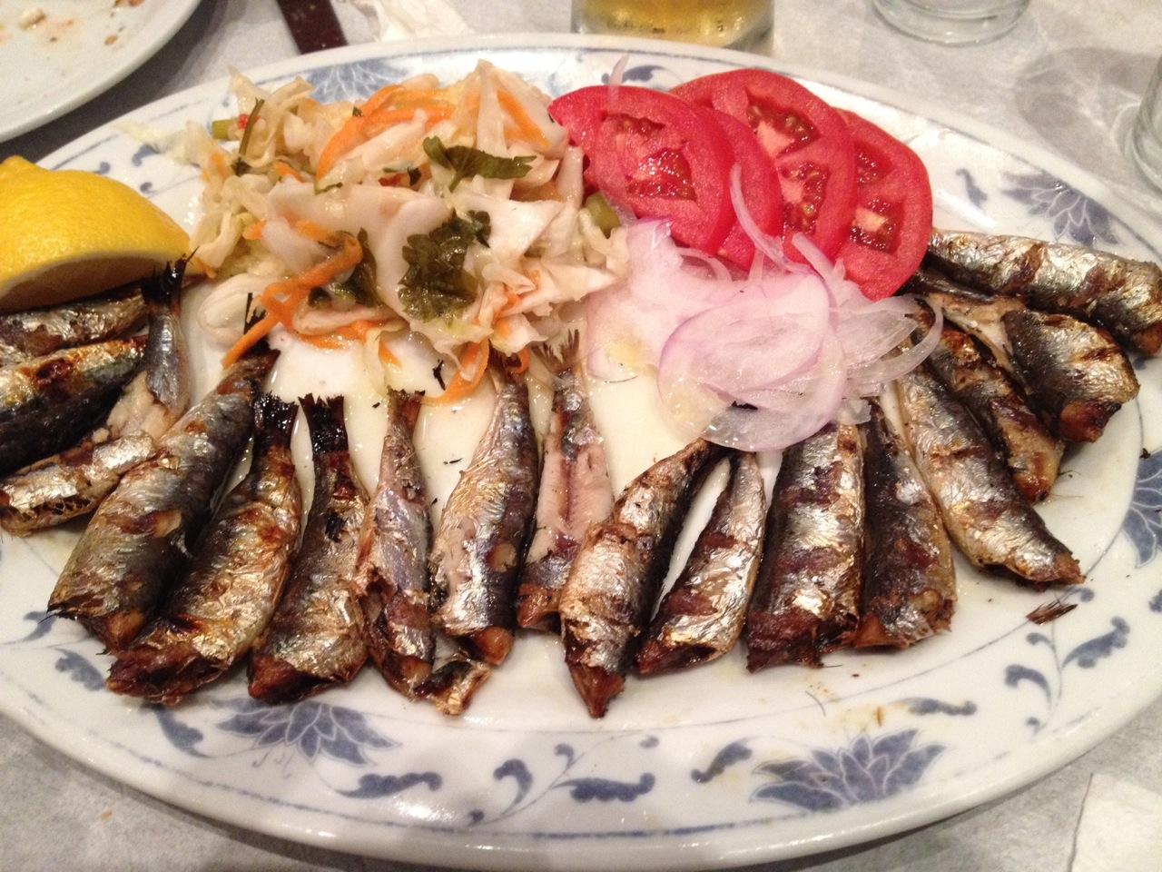 I love sardines, so I had to try them at Kanados