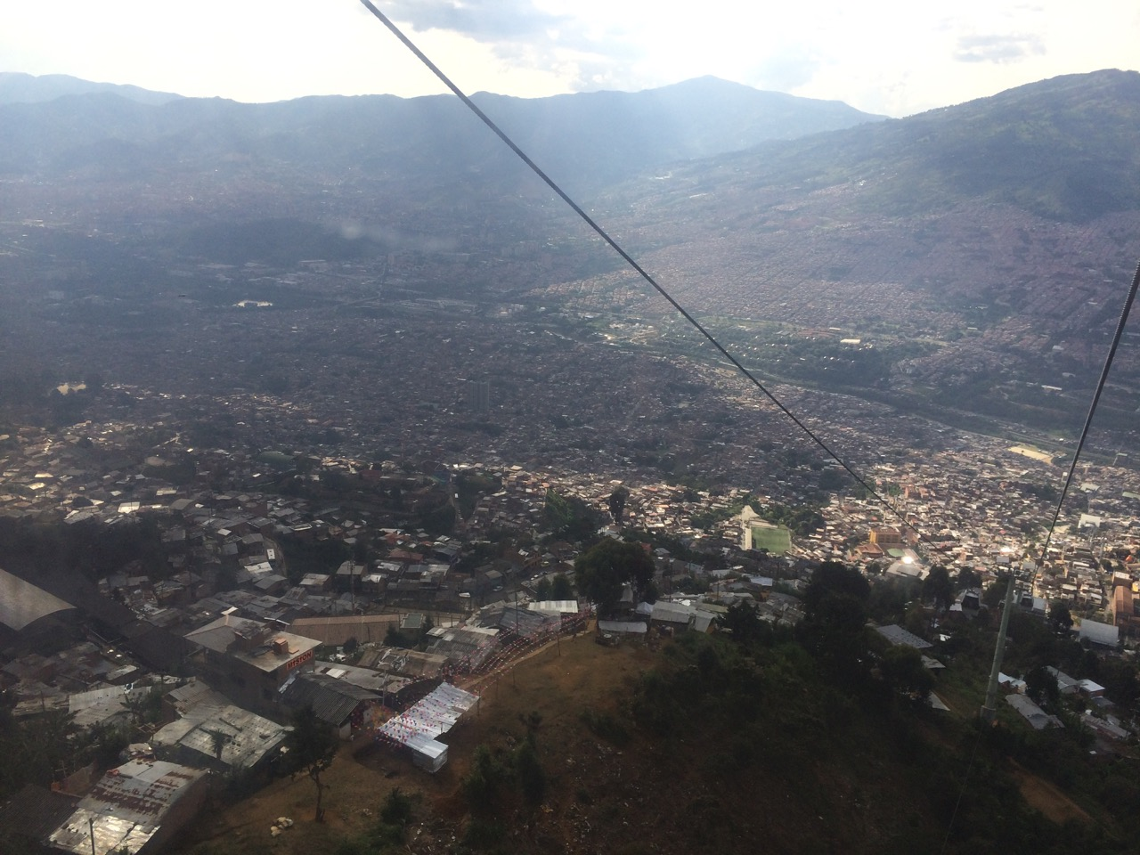 Riding above Medellin