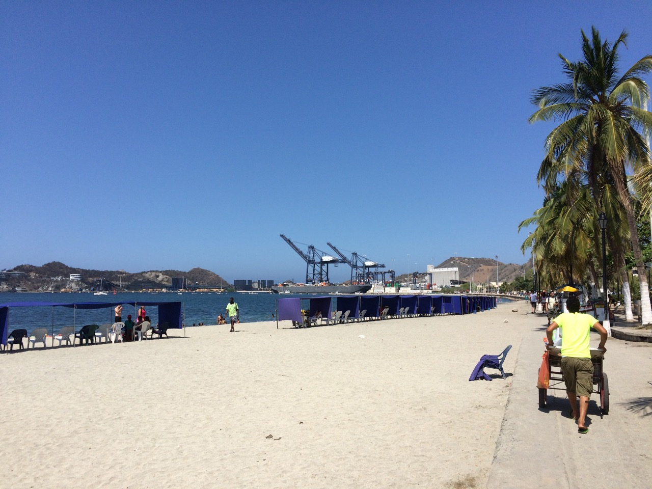 Santa Marta city beach