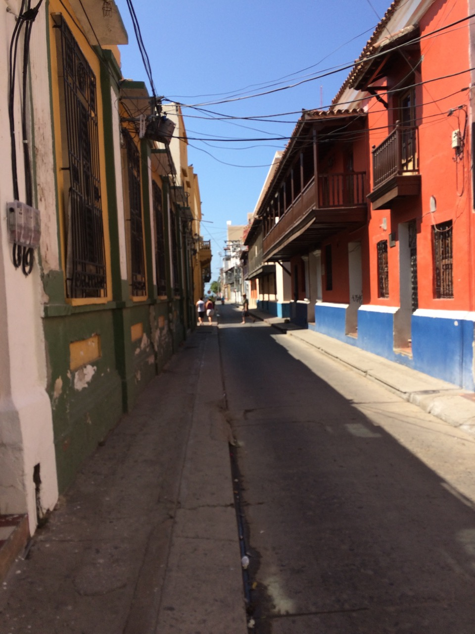 the old street of Santa Marta