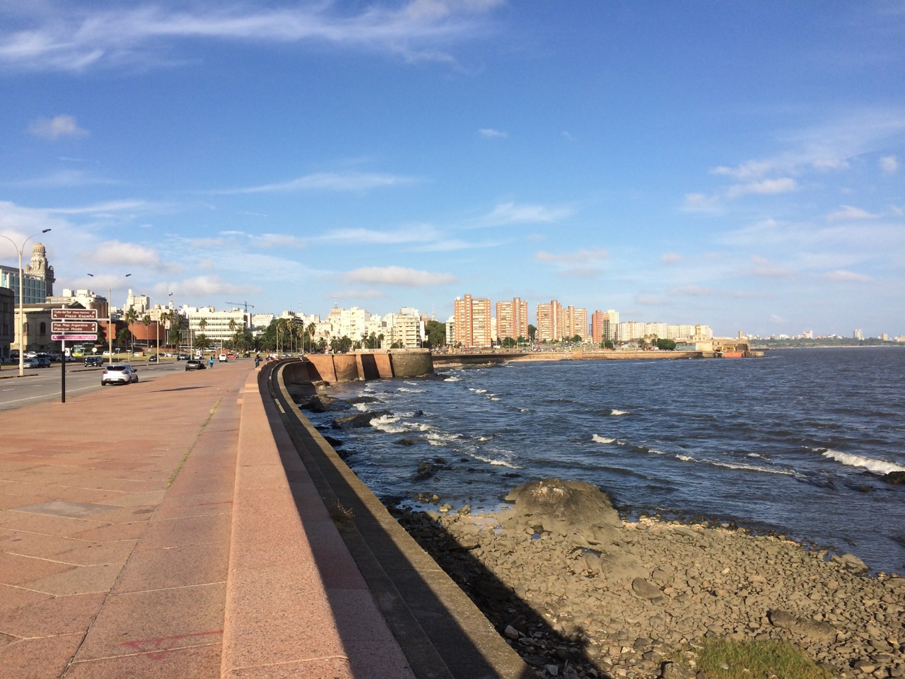 Montevideo is the walking paradise: the total length of the promenade is about 20 km