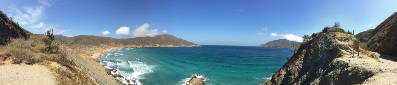 The panoramic view of Parque Nacional Natural Tayrona (Tayrona Park)