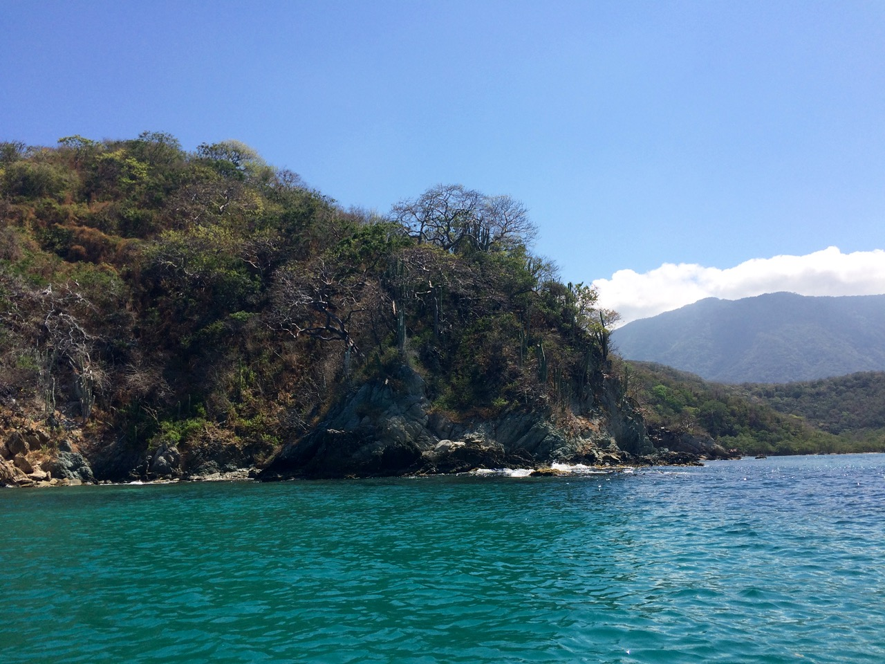 View of Tayrona from the boat