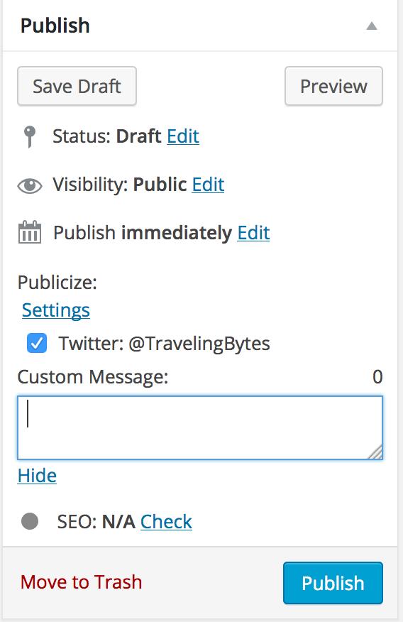 Customizing tweet