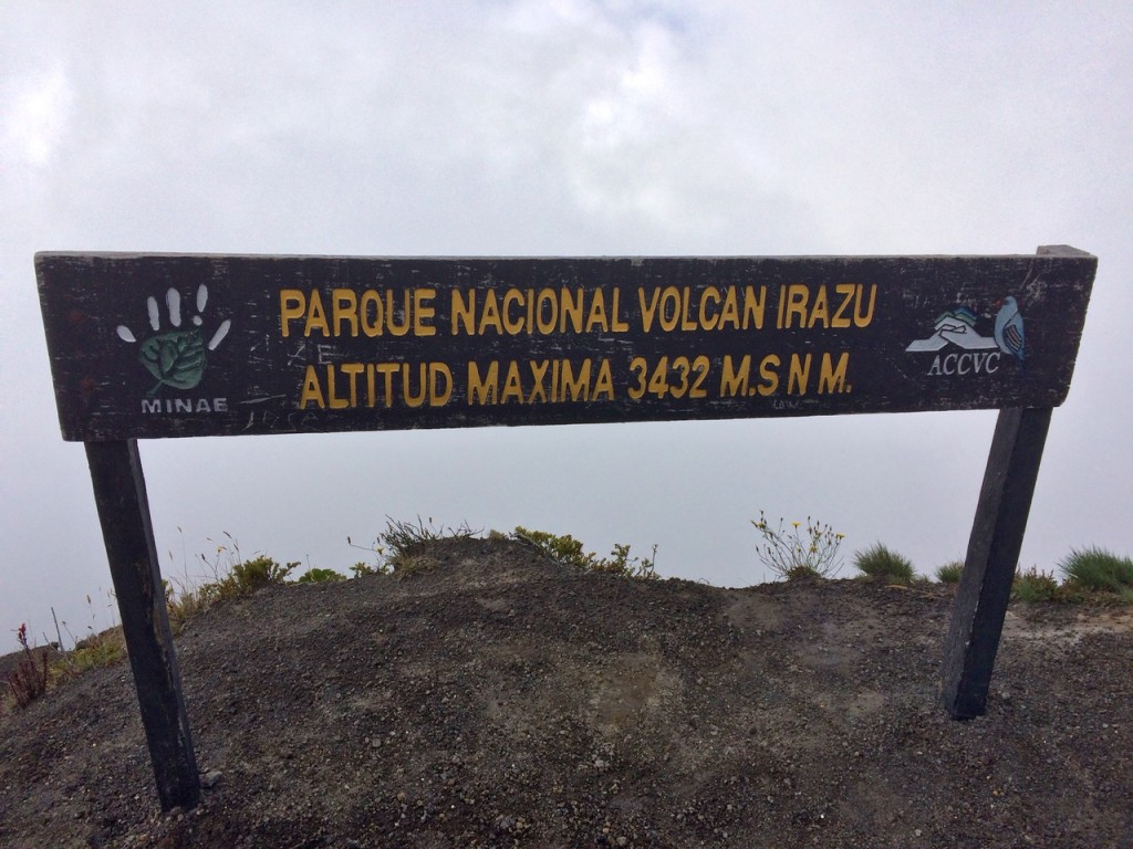 The highest point of Irazú
