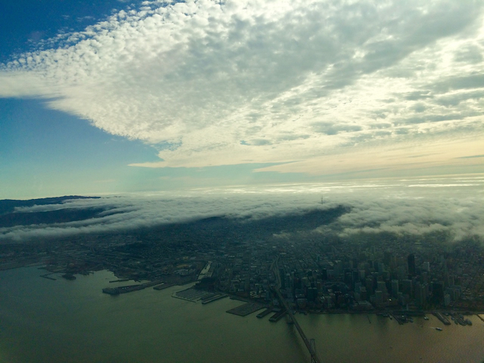 Above the clouds over San Francisco