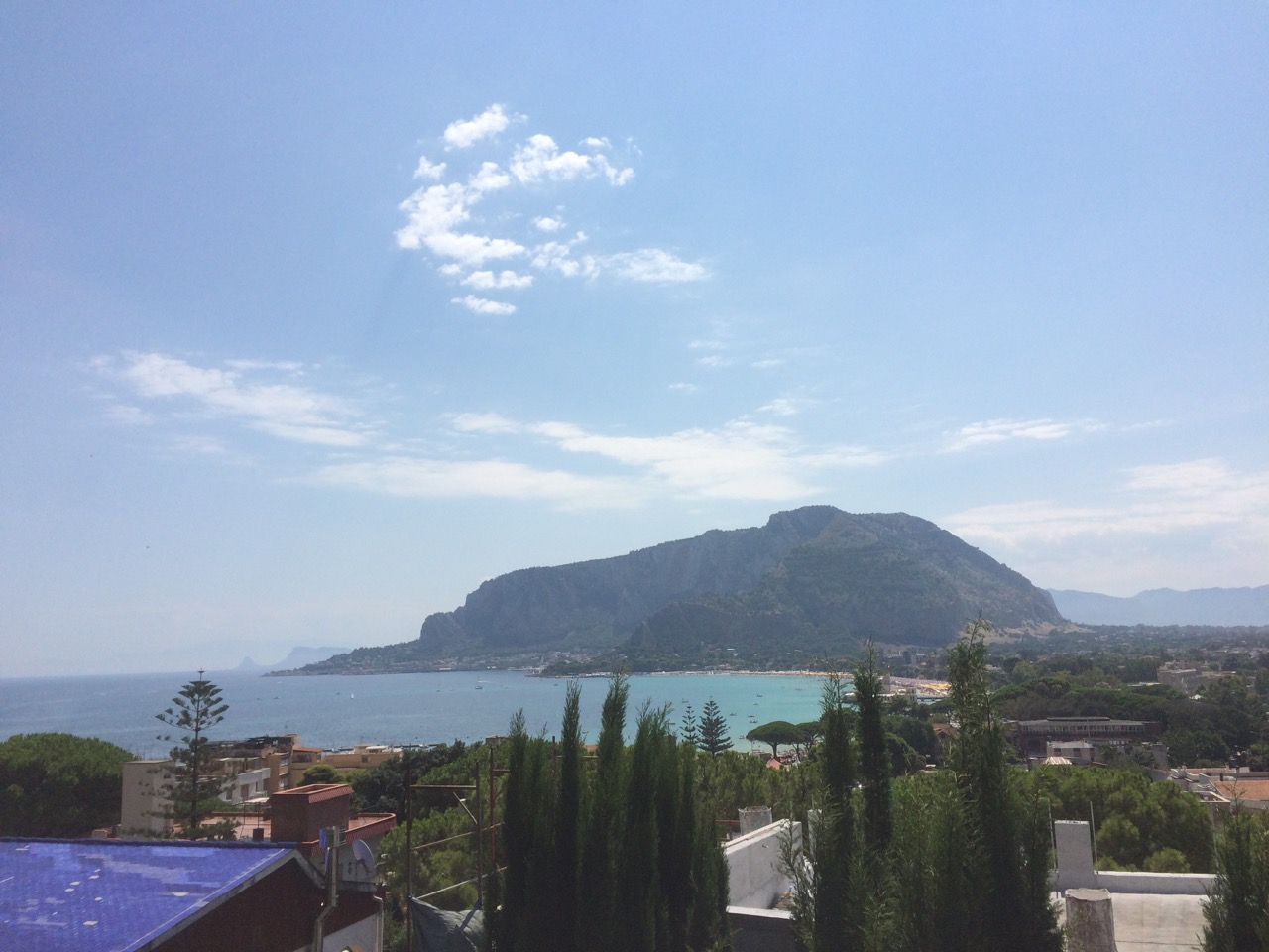 The gorgeous views from the terrace