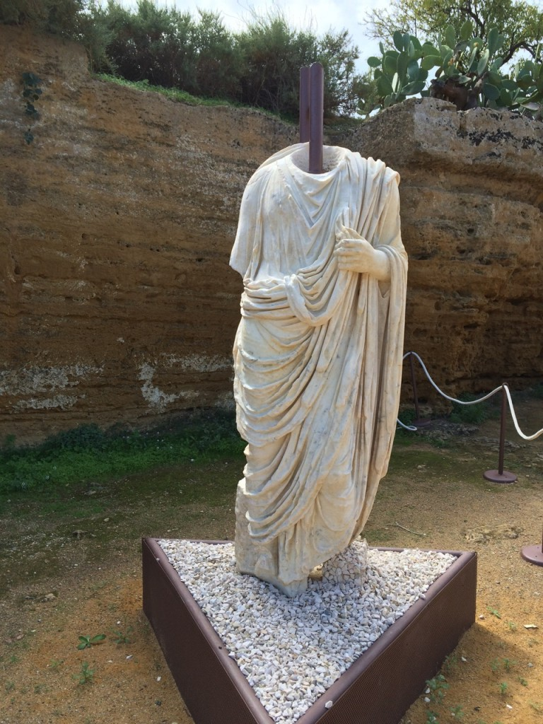 A Roman statue unearthed during excavation of 2012