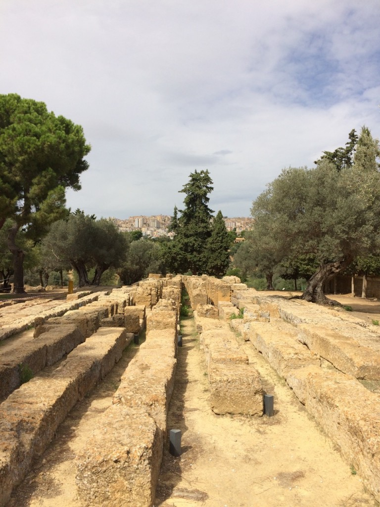 The altar of the Temple of Zeus
