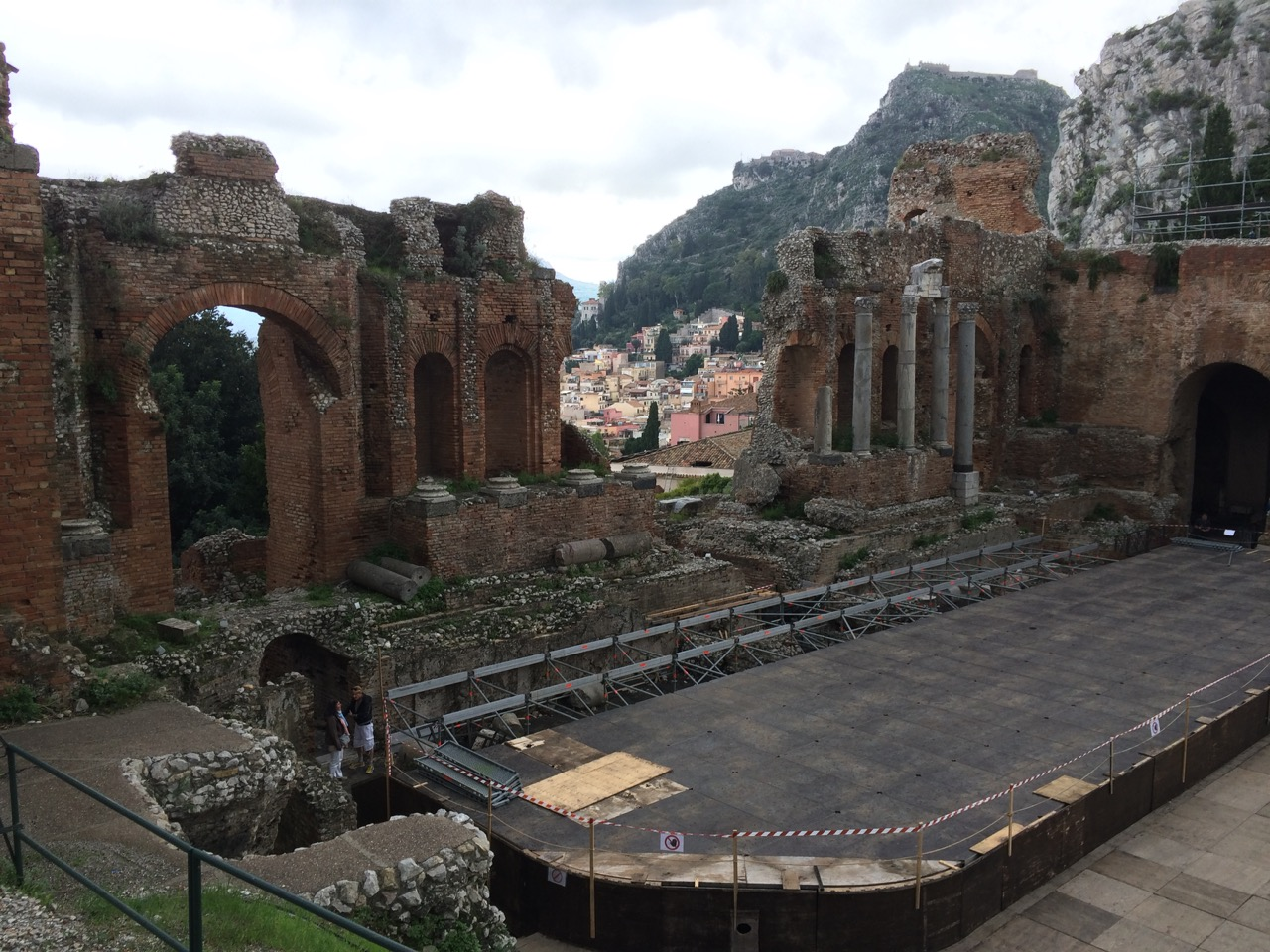 The Theater with Taormina visible behind