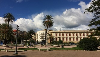Messina reminds Montevideo, the capital of Urugay