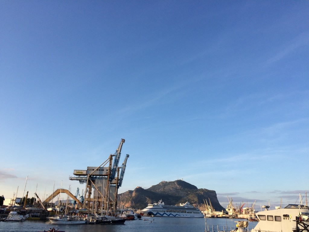 Port of Palermo on a sunny day