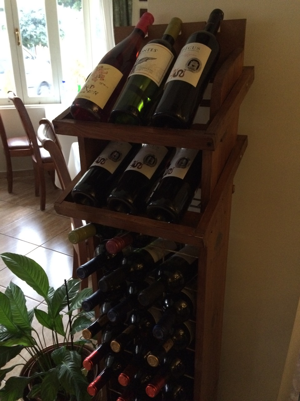 Good selection of wines