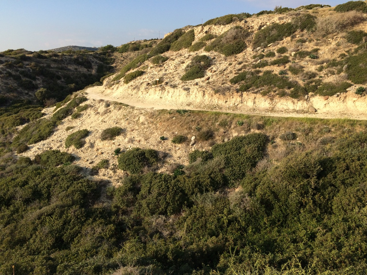 Trail along the coastline near Pafos, Cyprus