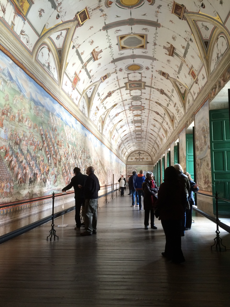 Hall of Battles: fresco paintings depict the most important Spanish military victories