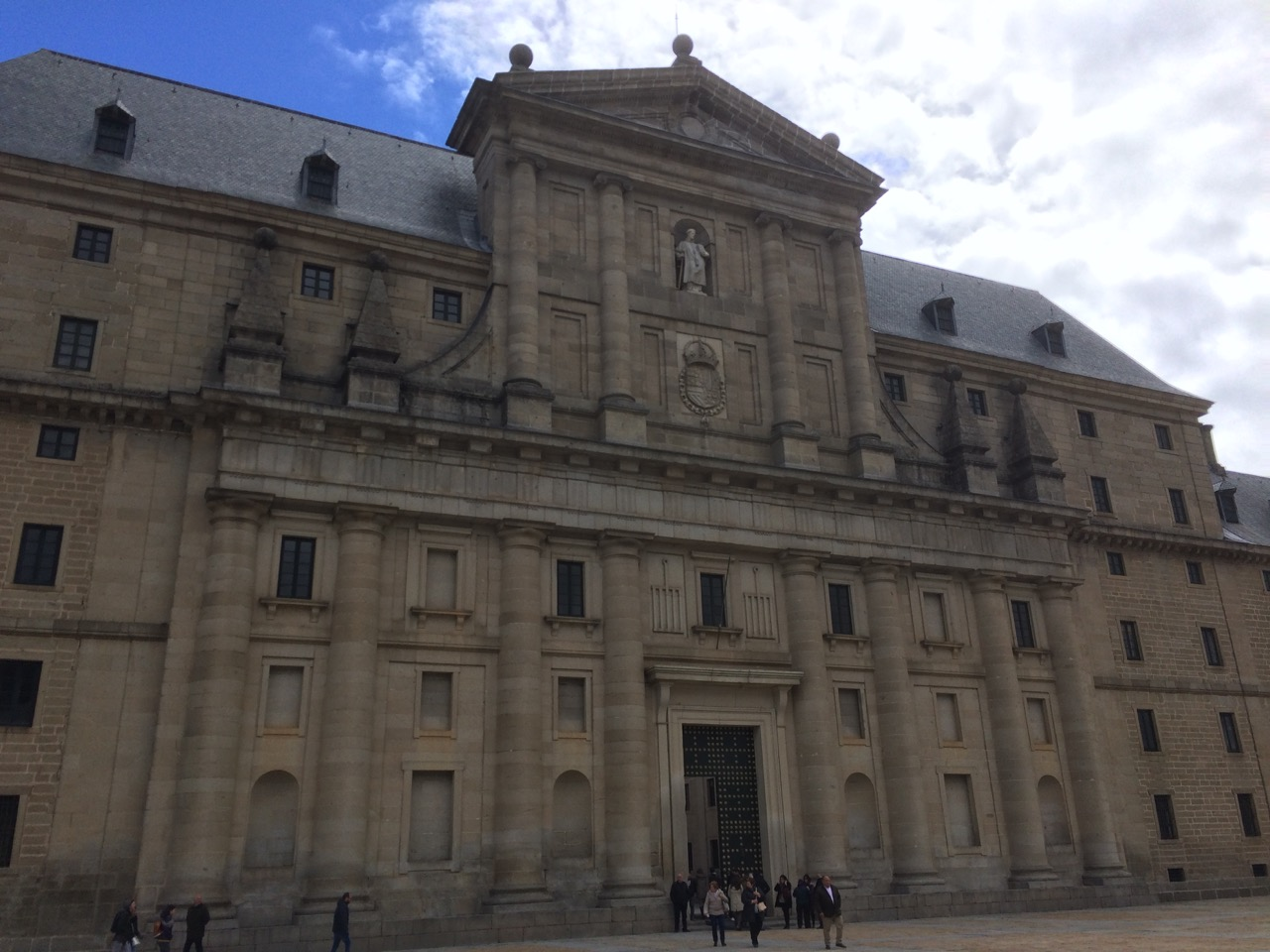 El Escorial's intimidating appearance