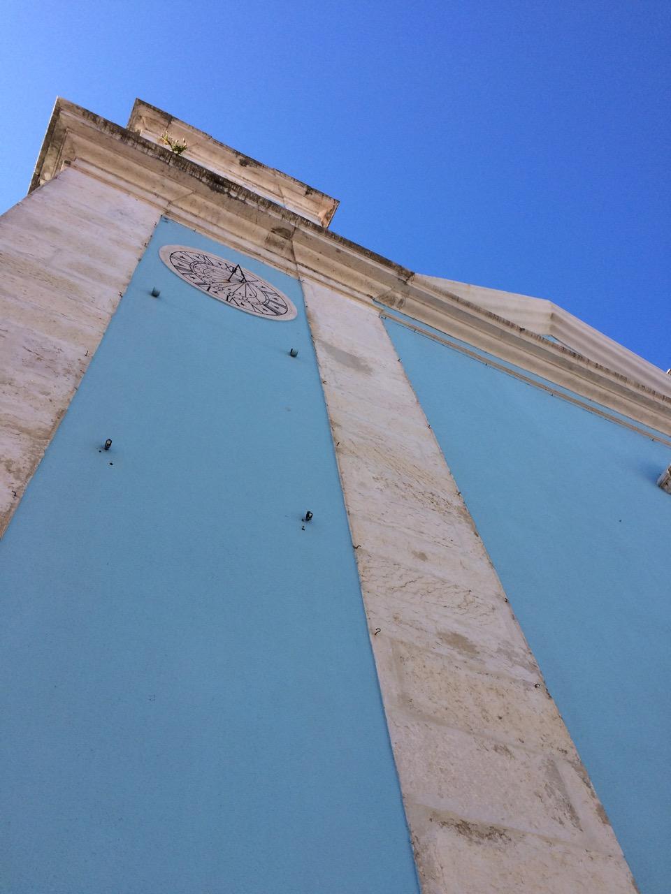 A blue church in Cacilhas