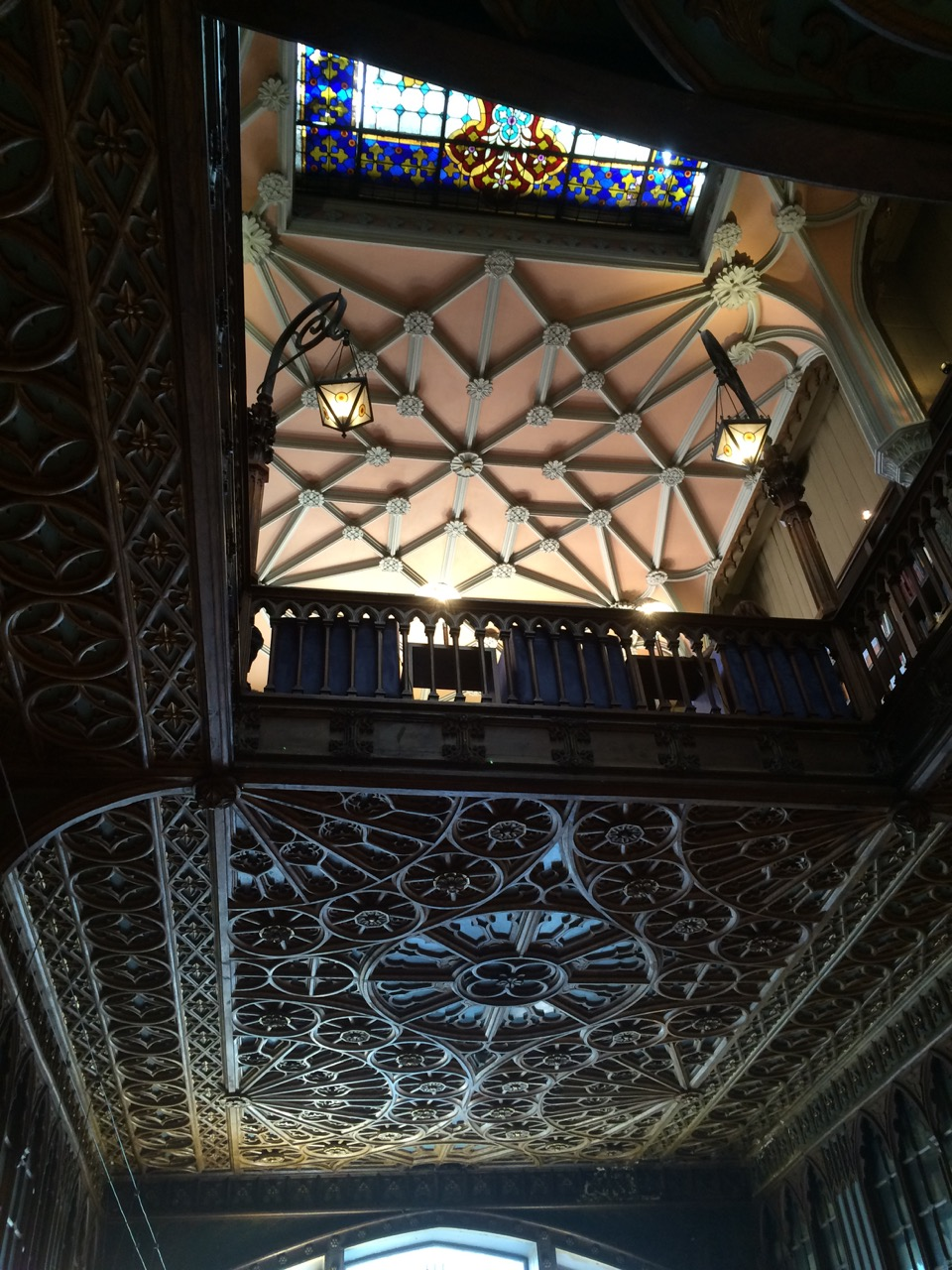 The interior details