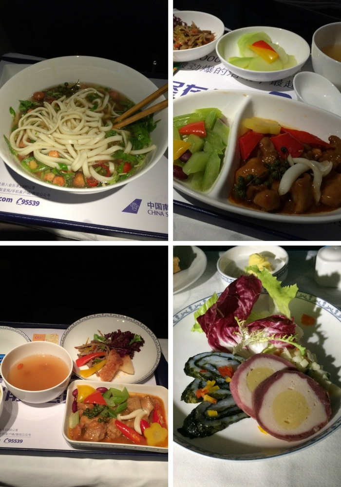 China Southern Business Class meals
