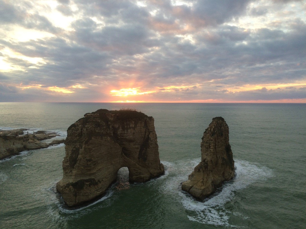 Sunset over Pigeon Rocks