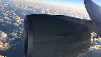 flying over Australia