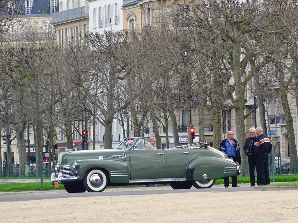 An Antique American Car In Paris